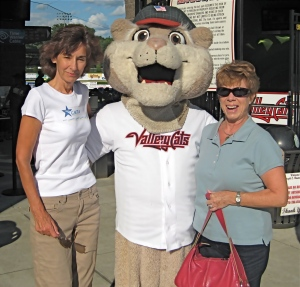 Melinda with friend Cheryl at ValleyCats fundraiser for the CMTA