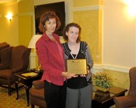 "Christine A. Hook receives the  CMTA ""I'm a Star"" award"